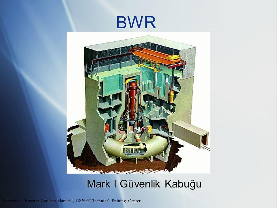 BWR Mark I Güvenlik Kabuğu Referans : Reactor Concept Manuel , USNRC Technical Training Center