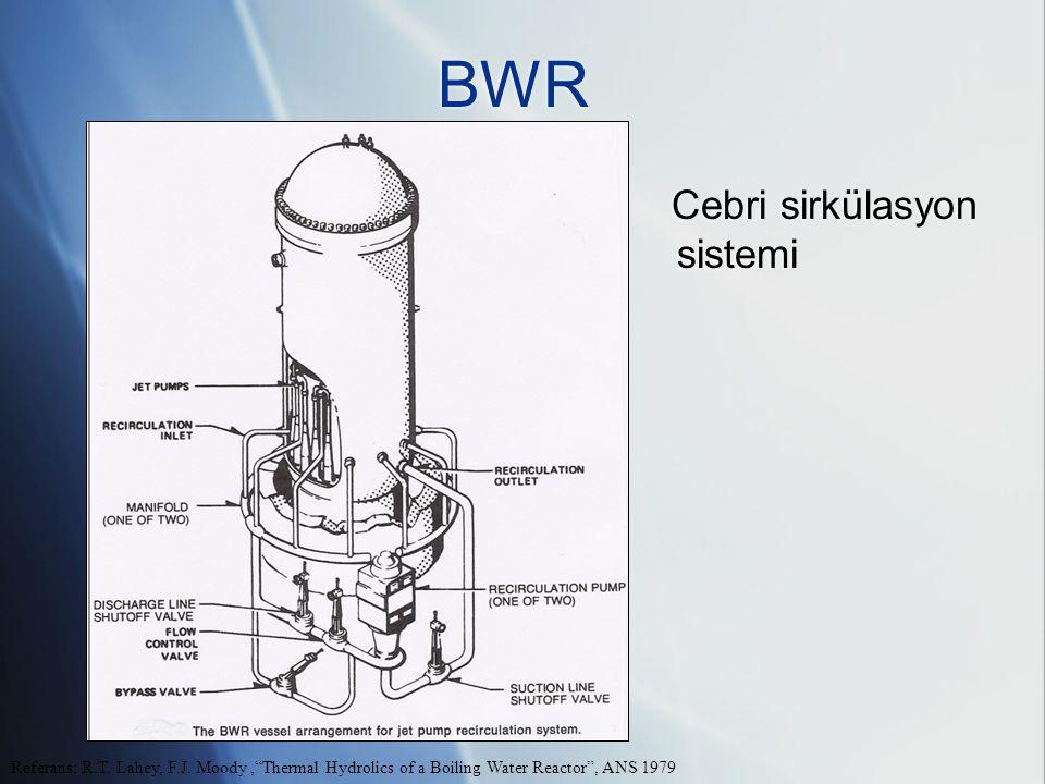BWR Cebri sirkülasyon sistemi Referans: R.T.Lahey, F.J.