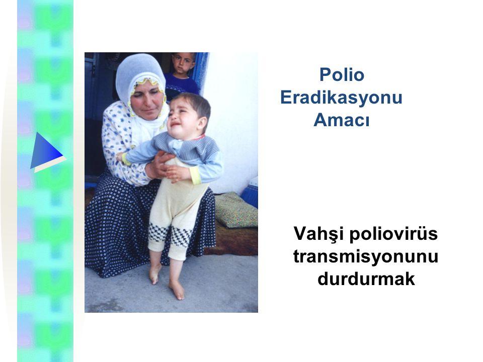 Türkiye'de polio eradikasyonu programı Uluslar arası hedefler doğrultusunda, 1989 yılında ülkemizde polionun eradikasyonuna yönelik Polio Eradikasyonu Programı başlatılmıştır.