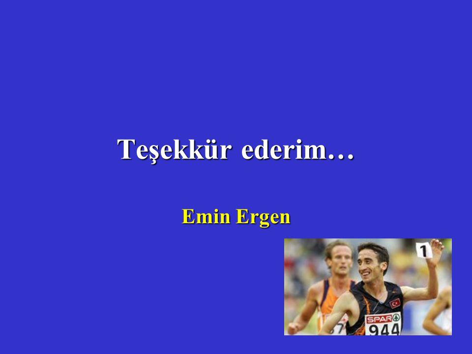 Teşekkür ederim… Emin Ergen