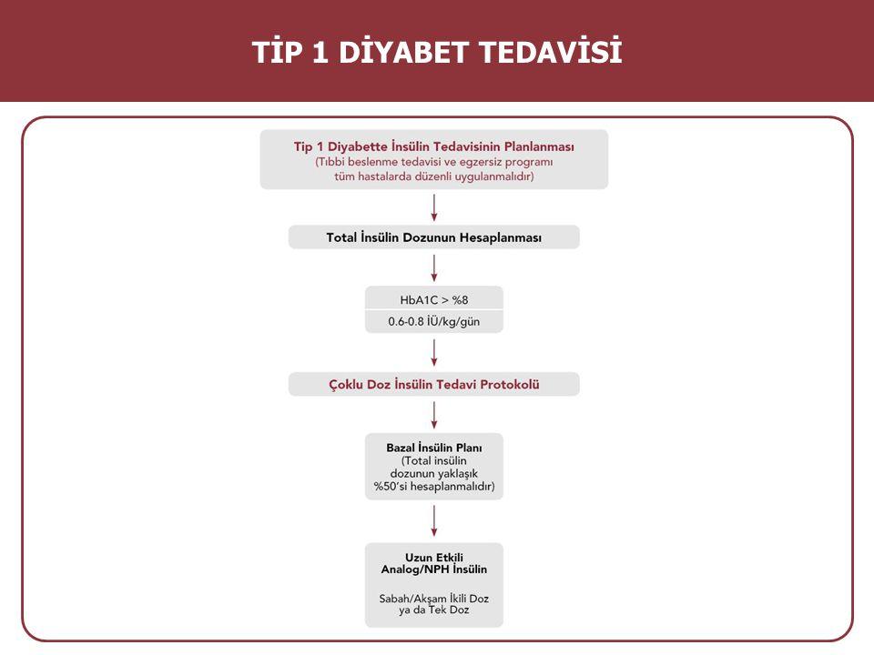 Özel Durumlarda Kullanılabilecek Diğer İnsülin Protokolleri T1DM tedavisinde bazal-bolus insülin tedavisi esastır.