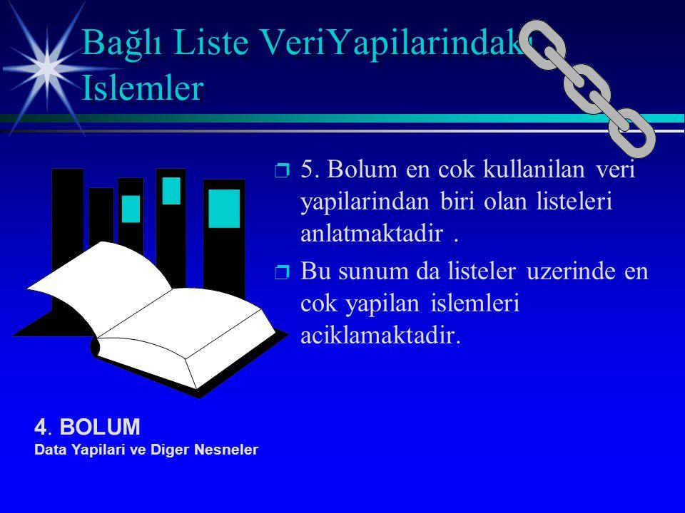 p p 5. Bolum en cok kullanilan veri yapilarindan biri olan listeleri anlatmaktadir.