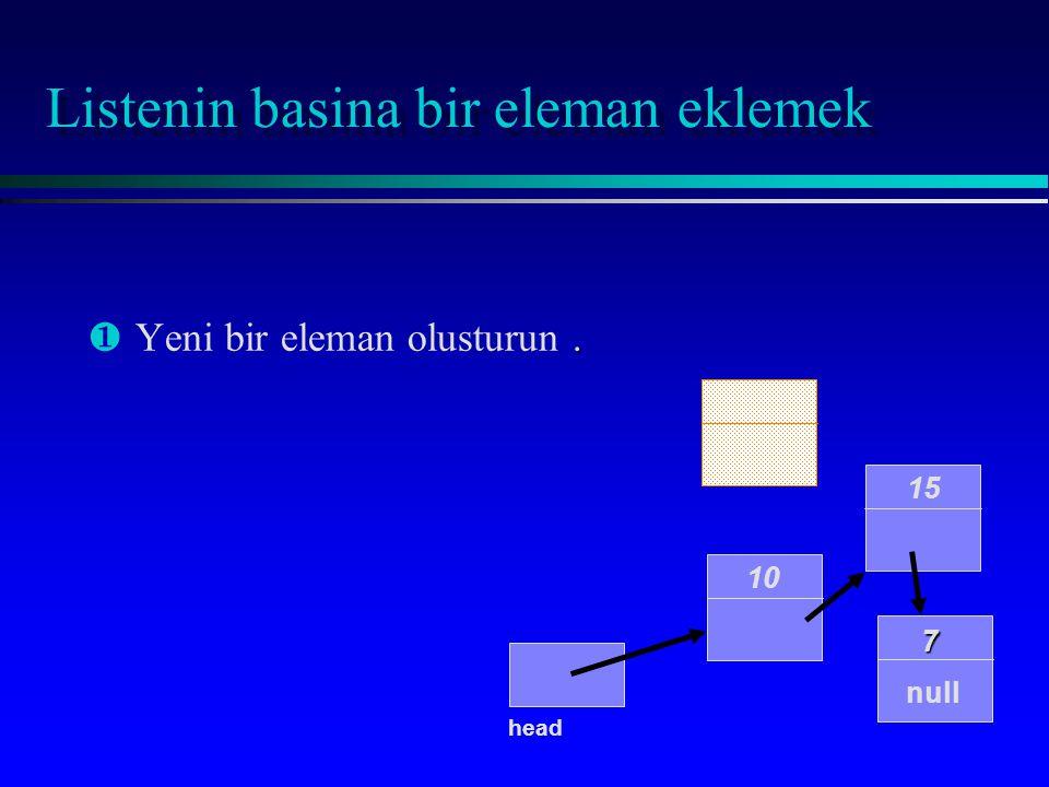 Eleman ekleme islemini gosteren kod ornekleri ¶,.