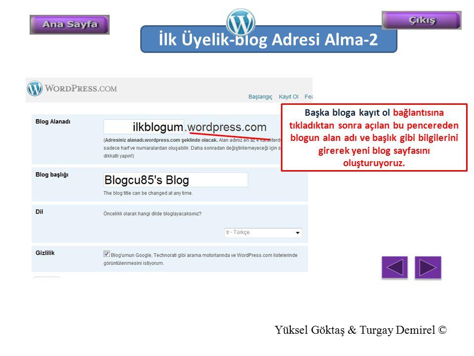 Başka bloga kayıt ol bağlantısına tıkladıktan sonra açılan bu pencereden blogun alan adı ve başlık gibi bilgilerini girerek yeni blog sayfasını oluştu