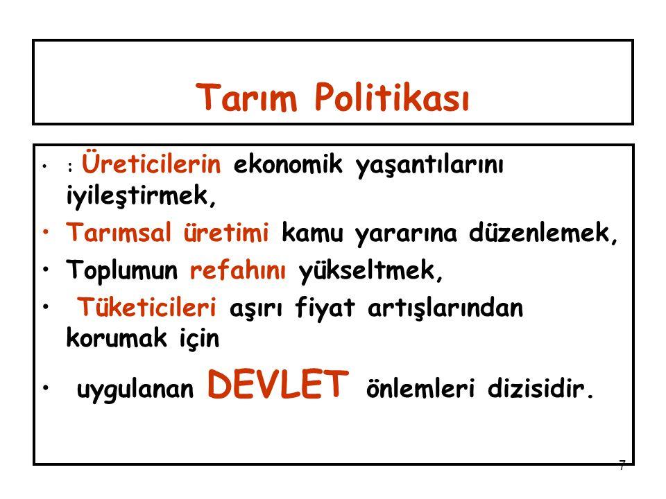 18 2- Türkiye'de (5 asit) ve Avrupa Birliği'nde (3.3 asit) 1 kg Zeytinyağı Üretimi Karşılığında Üretici Eline Geçen (Üretim Yardımları+ Satış Fiyatları) Fiyatların Karşılaştırılması Türkiye'de Üretici Eline Geçen Fiyatlar AB'den %40 ile %70, daha az TÜRK ÜRETİCİSİ AB ÜRETİCİ Sİ 2002/2003 (Var yılı) 2003/2004 (Yok yılı) 2004/2005 ( Var yılı) 2005/2006 (Yok yılı) (Var-Yok yılı Dahil Son Dört yıl) 0.271+1.368.= 1.639EURO/kg 0.0.660+1.684= 2.344 EURO/kg 0.322+1.763= 2.085 EURO/kg 0.129+2.63= 2.759 EURO/kg Üretici Hedef Fiyatı 3.837 EURO/k g Renan TUNALIOĞLU-7.TARIM EKONOMİSİ KONGRESİ-EYLÜL 2006-ANTALYA