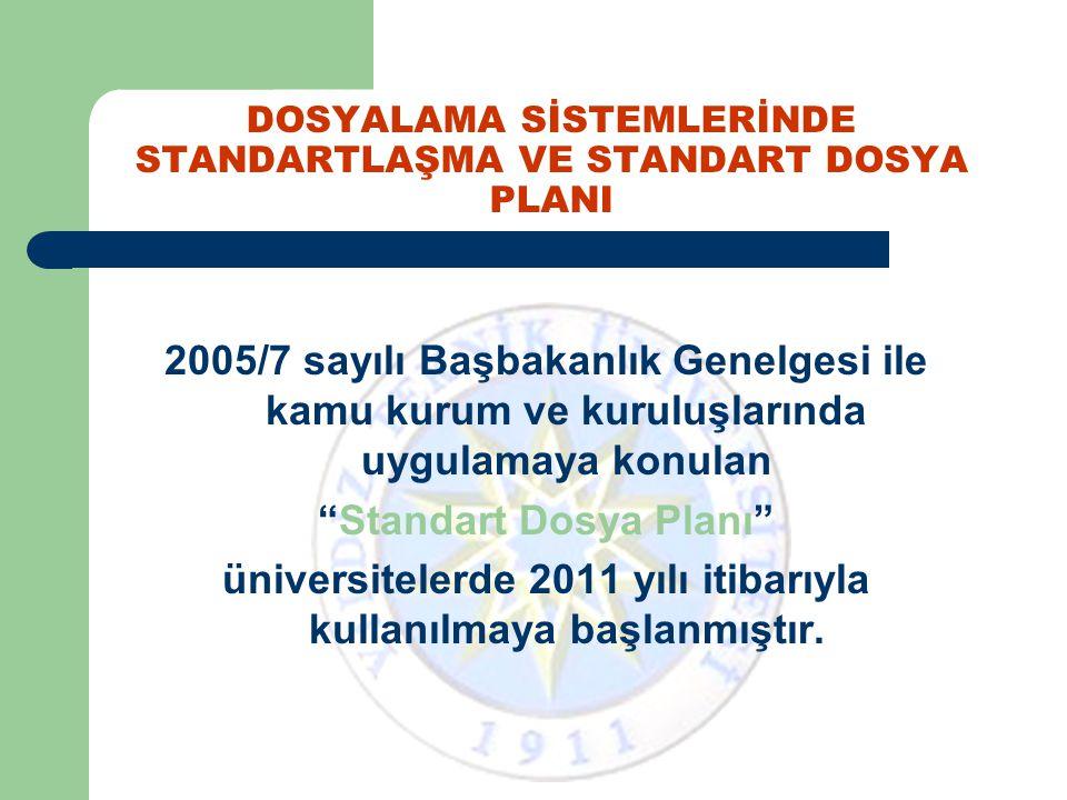 Dosyalama Hizmetlerinde Standartlaşma ile; Aynı konudaki belgelerin kamu kurum ve kuruluşlarında aynı numaralarla kodlanması sağlanmış olacaktır.