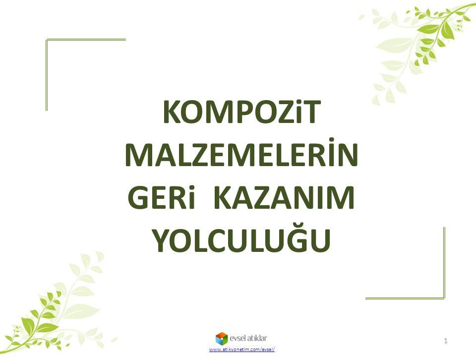 KOMPOZiT MALZEMELERİN GERi KAZANIM YOLCULUĞU www.atikyonetim.com/evsel/ 1
