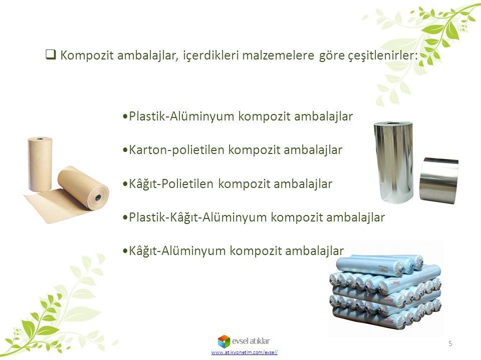 Plastik-Alüminyum kompozit ambalajlar Karton-polietilen kompozit ambalajlar Kâğıt-Polietilen kompozit ambalajlar Plastik-Kâğıt-Alüminyum kompozit amba