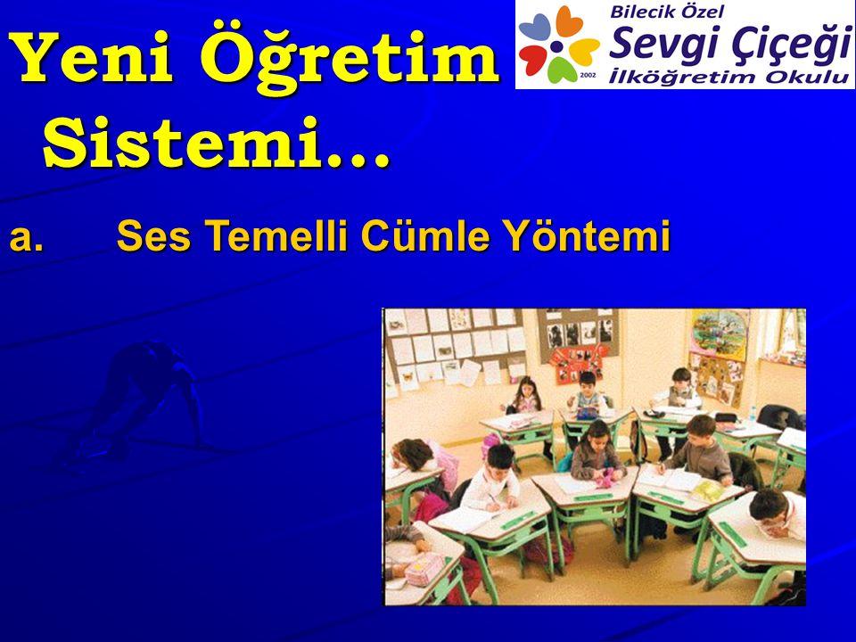 Yeni Öğretim Sistemi… a.Ses Temelli Cümle Yöntemi