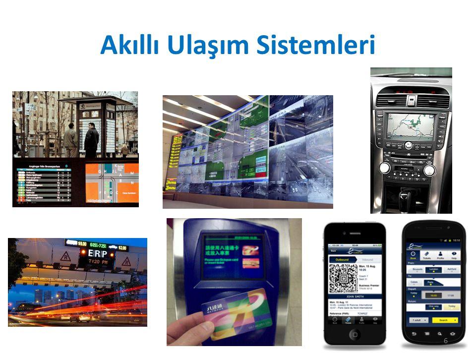 Akıllı Ulaşım Sistemleri (AUS) Akıllı Ulaşım Sistemleri, farklı ulaşım modlarına ve trafik yönetimine dair yenilikçi hizmetler sunmayı amaçlayan, çeşitli kullanıcıları daha iyi bilgilendirmeyi olanaklı hale getiren ve ulaşım ağlarının kullanımını daha emniyetli, daha koordine ve 'akıllı' kılan ileri teknolojik uygulamalardır.