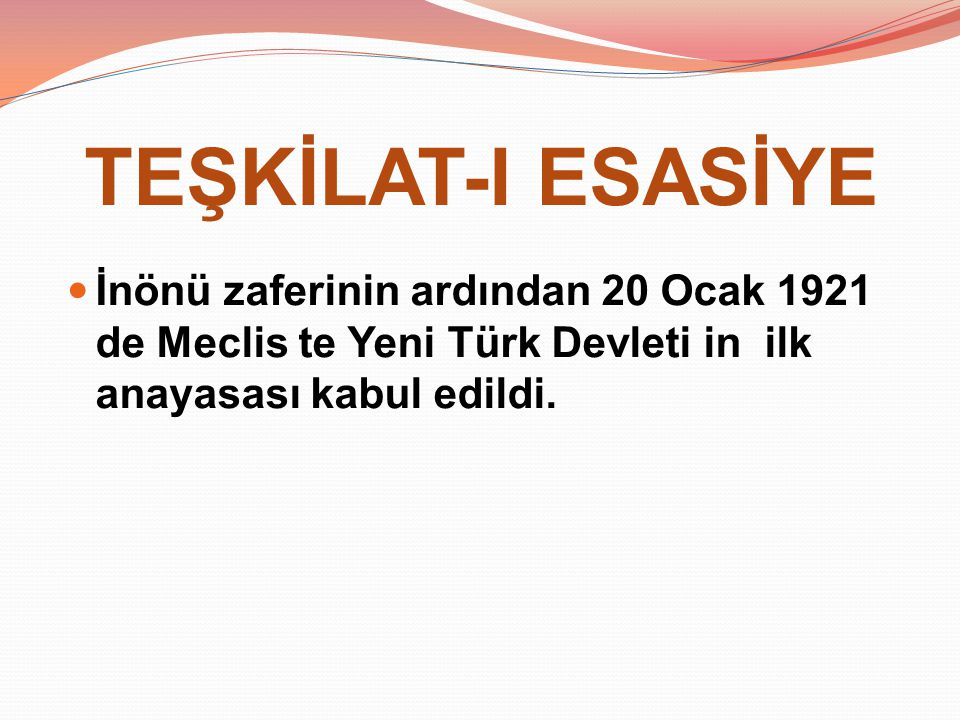TBMM YE KARŞI ÇIKAN AYAKLANMALAR 1.İstanbul Hükümeti Tarafından Çıkarılan Ayaklanmalar 2.İstanbul Hükümeti ve İtilaf Devletlerinin Kışkırtmasıyla Çıkan Ayaklanmalar 3.Azınlıkların Çıkardığı Ayaklanmalar 4.Kuvayimilliye Birliklerinin Ayaklanmaları