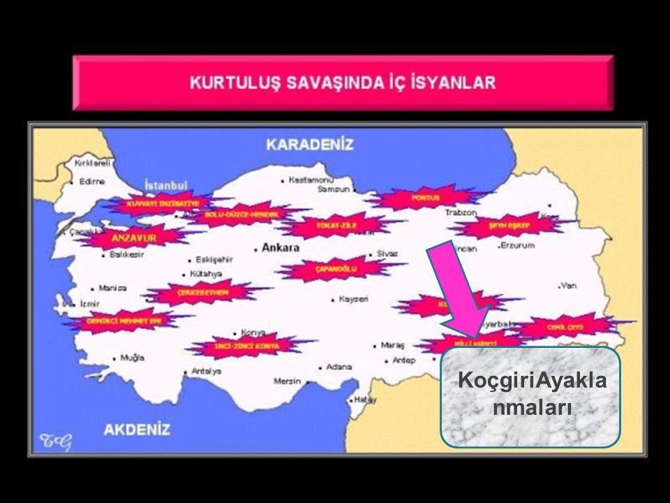 3.Azınlıkların Çıkardığı Ayaklanmalar NEDENLERİ Rumların ve Ermenilerin bulunduğu bölgelerdeki Müslüman halka zulmederek kendi devletlerini kurmak istemeleri Azınlıkların itilaf devletleri tarafından desteklenmeleri