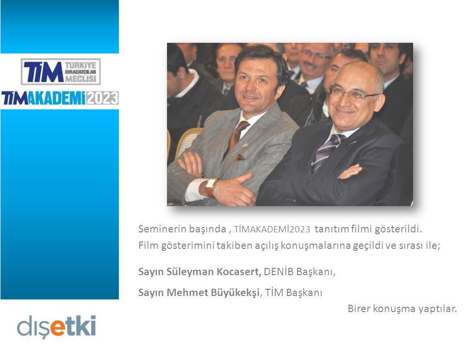 Seminerin başında, TİMAKADEMİ2023 tanıtım filmi gösterildi.