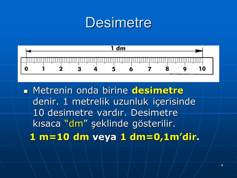 3 A.Metrenin A.Metrenin As Katları 1. Desimetre 2. Santimetre 3. Milimetre