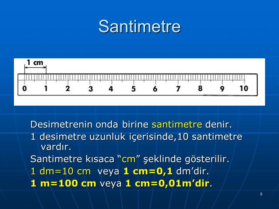 """4 Desimetre Metrenin Metrenin onda birine birine desimetre denir. 1 metrelik uzunluk içerisinde 10 desimetre vardır. Desimetre kısaca """"dm"""" """"dm"""" şeklin"""