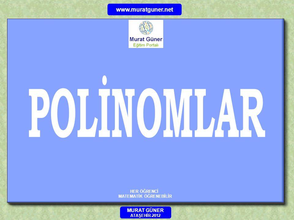 ÖRNEK P( 2x + 1 ) = 4x 2 + 5x – 7 polinomu veriliyor.P( 7 ) = .