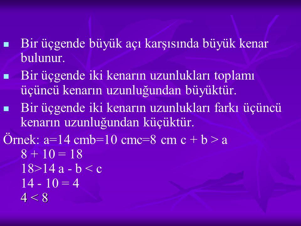 S=2 -Aşağıdakilerden hangisi yamuğun ortak özelliklerinden birisidir.
