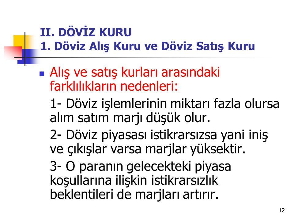 12 II.DÖVİZ KURU 1.