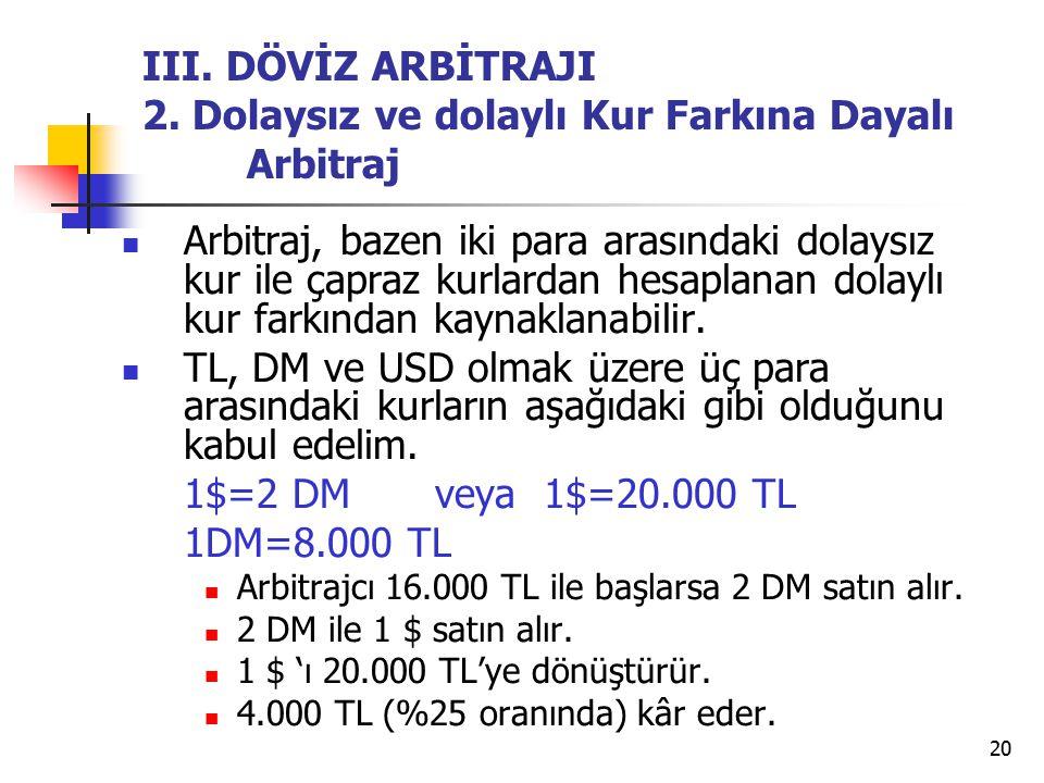 20 III.DÖVİZ ARBİTRAJI 2.