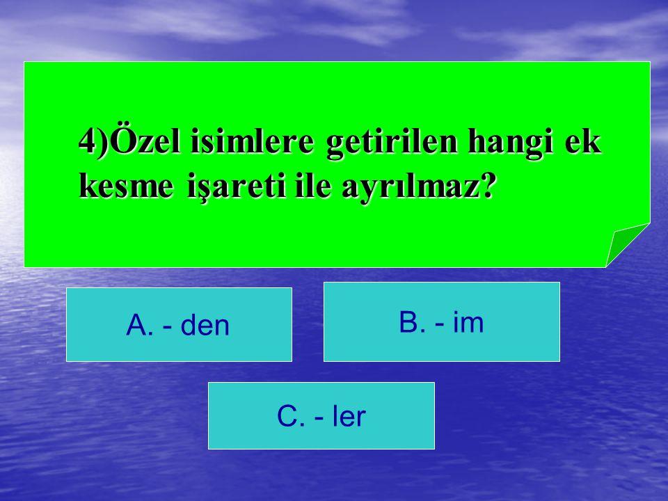 C) ve Cevap