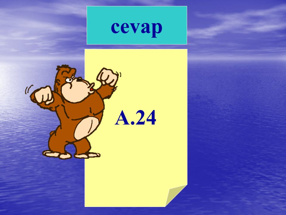 A.24B.32 C.40 1) 12 den başlayarak dörder ritmik sayarken dördüncü saymadaki sayının yarısının iki katı kaçtır?