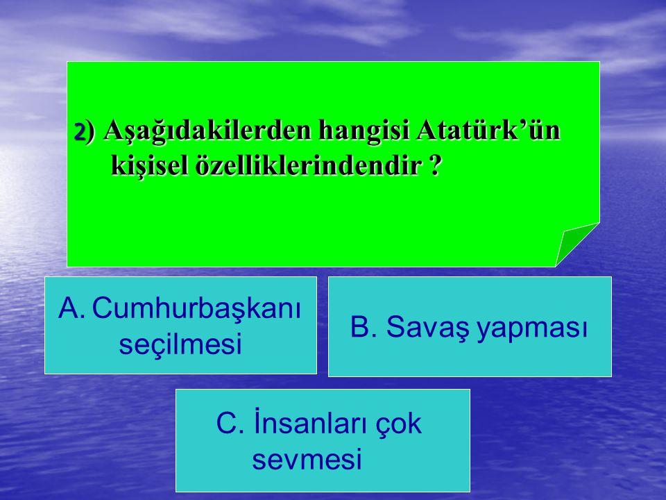 C) Kalem 8) Aşağıdakilerden hangisi ders araç ve gereci değildir ? B) Yazı tahtası A) Zil