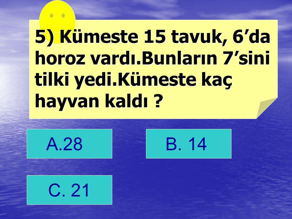 B. < cevap <