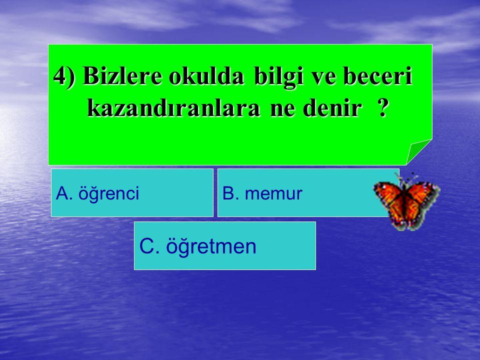 B.Ağaç isimleri cevap