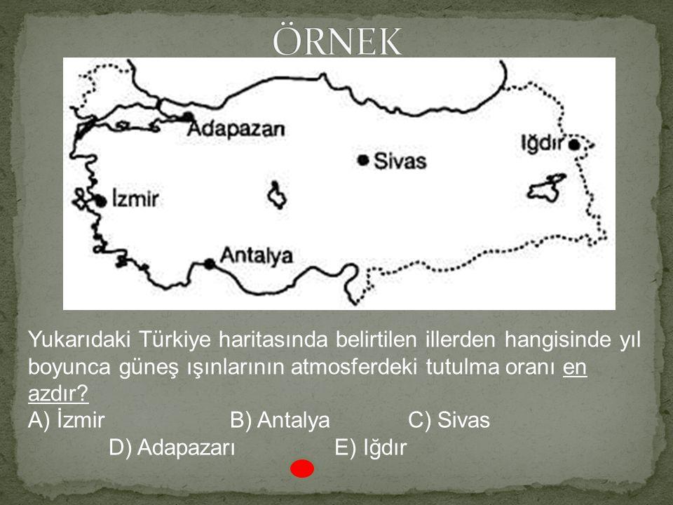 Güneş Kayseri'de tepe noktasında iken X kentinde yukarıdaki konumdadır. Buna göre X kenti aşağıdakilerden hangisi olabilir? A) İzmir B) Kars C) Niğde