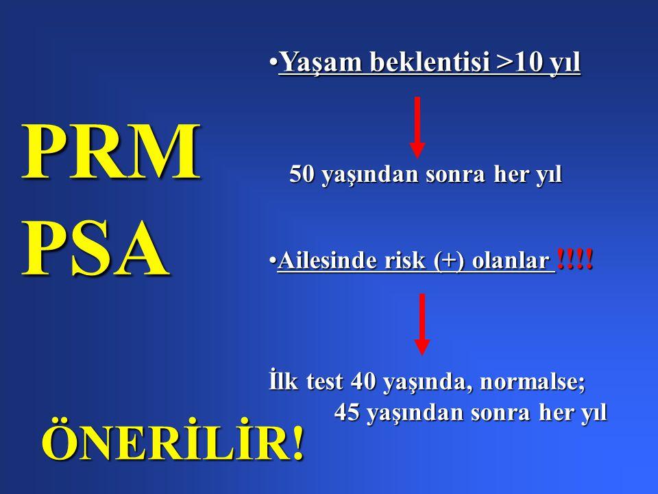 Yaşam beklentisi >10 yılYaşam beklentisi >10 yıl 50 yaşından sonra her yıl Ailesinde risk (+) olanlar !!!!Ailesinde risk (+) olanlar !!!.