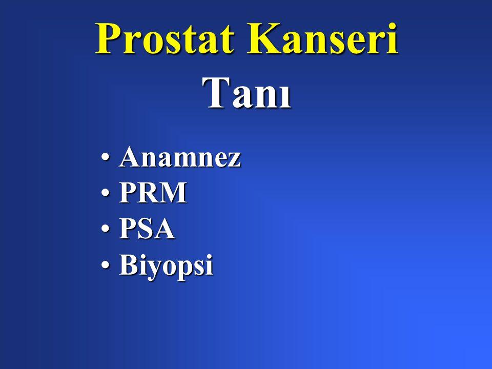 Prostat Kanseri Tanı AnamnezAnamnez PRMPRM PSAPSA BiyopsiBiyopsi