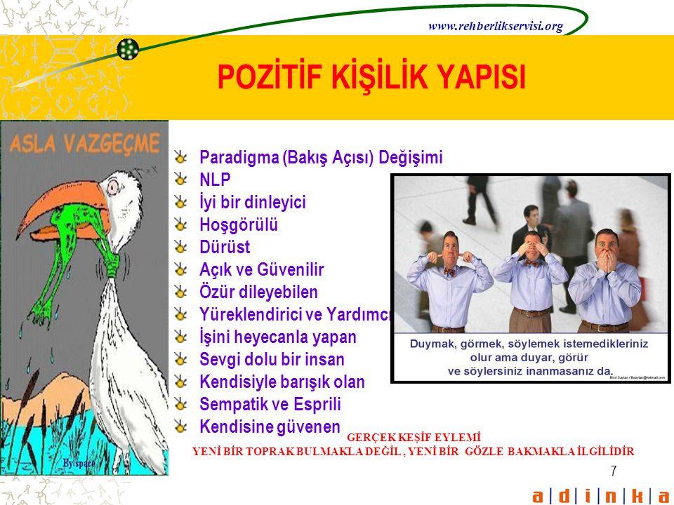 8 NEGATİF KİŞİLİK YAPISI www.rehberlikservisi.org