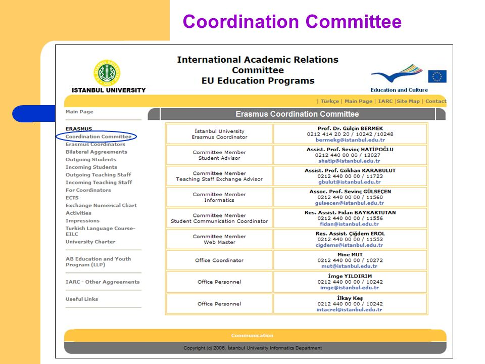 Coordination Committee