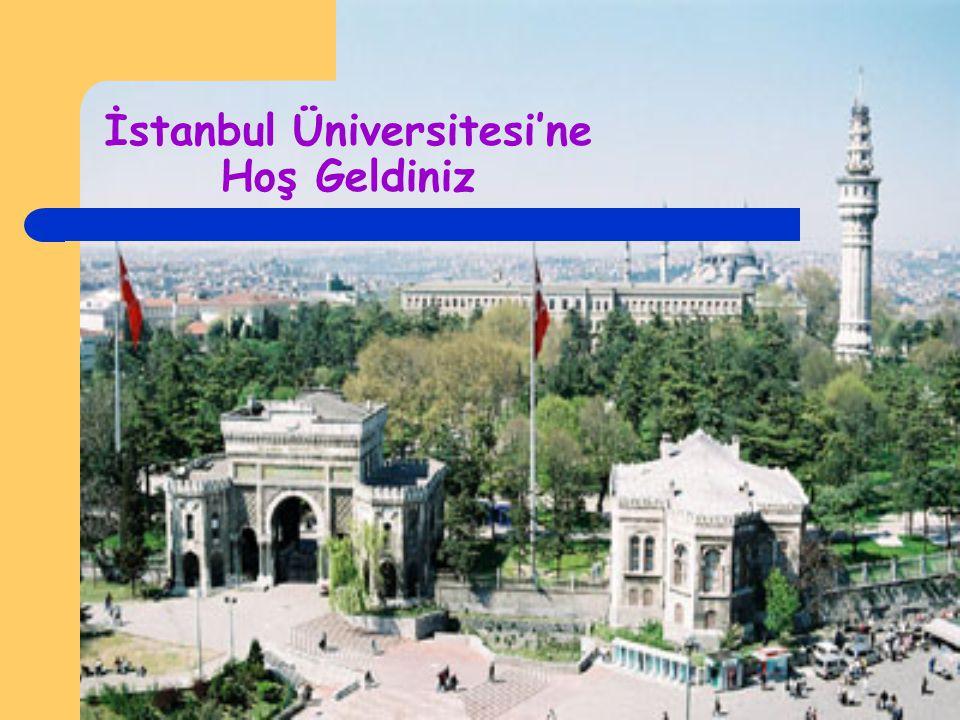 İstanbul Üniversitesi'ne Hoş Geldiniz