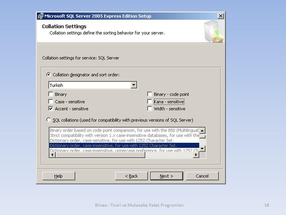 Bilnex - Ticari ve Muhasebe Paket Programları18