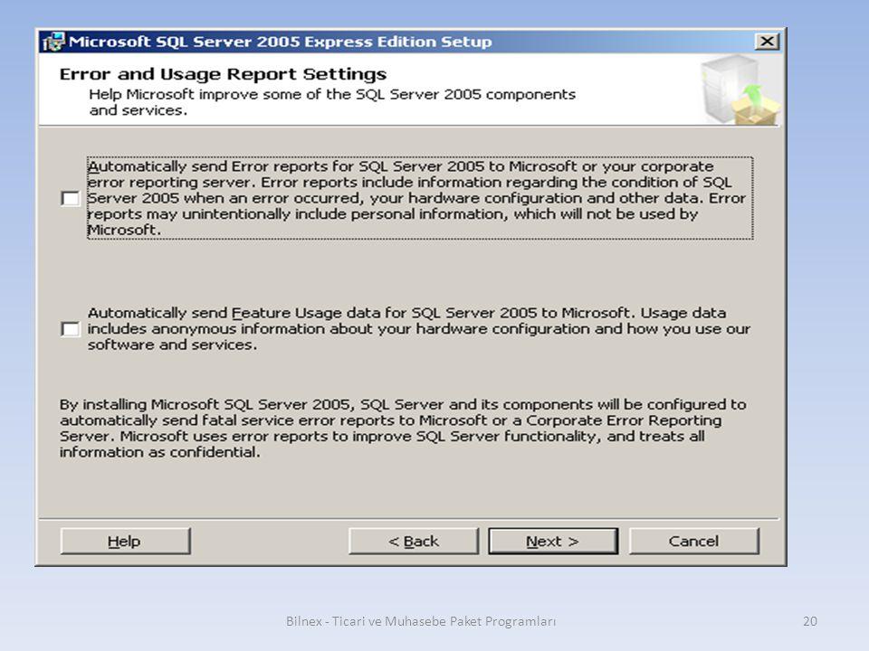 Bilnex - Ticari ve Muhasebe Paket Programları20
