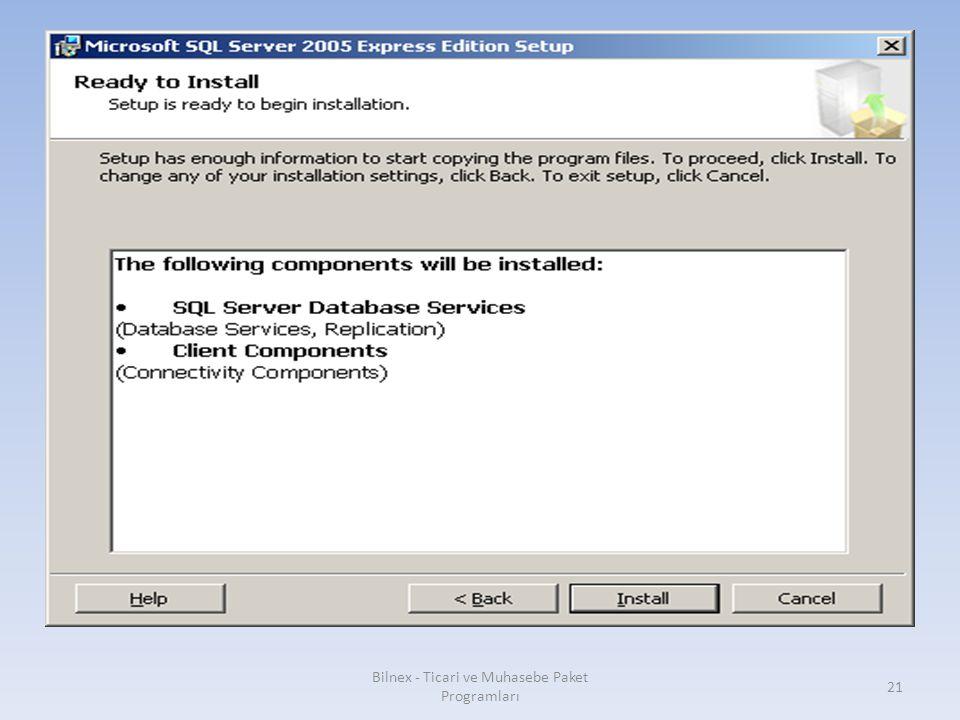 Bilnex - Ticari ve Muhasebe Paket Programları 21
