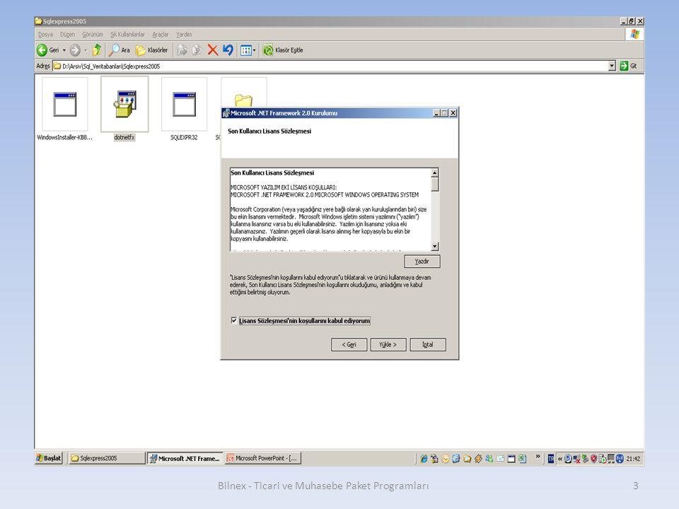 SQLServer2005_SSMSEE (Sql server management studio express edition, veritabanı yönetim paneli kurulumu) Bilnex - Ticari ve Muhasebe Paket Programları24