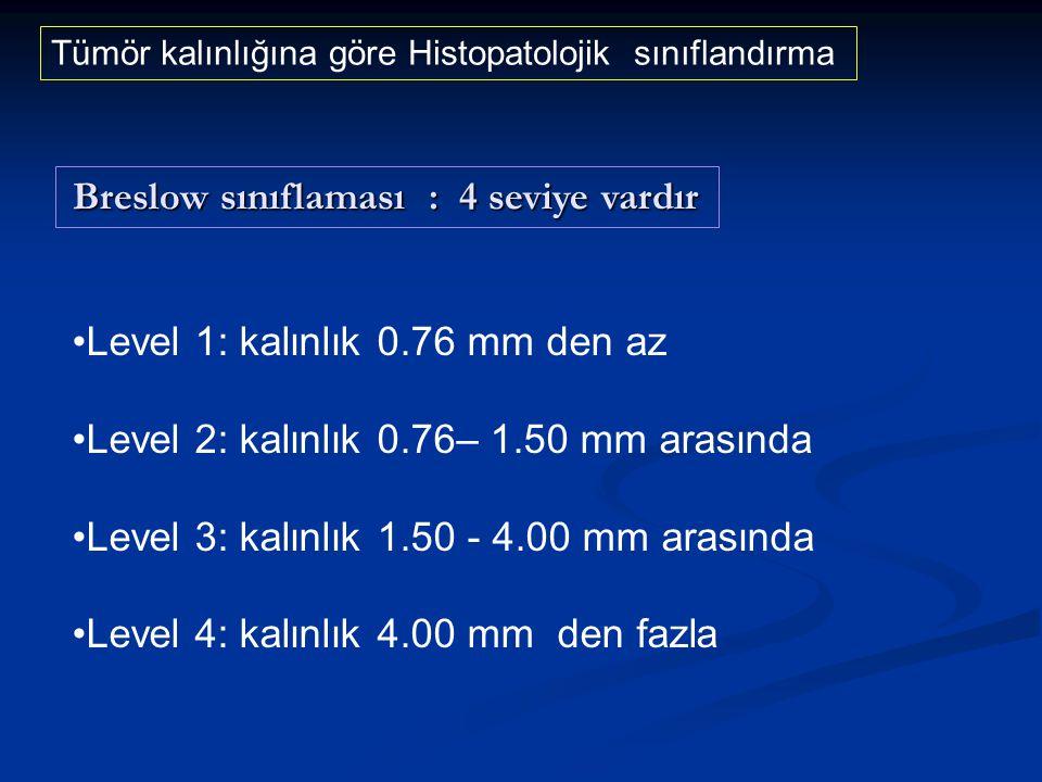 Level 1: kalınlık 0.76 mm den az Level 2: kalınlık 0.76– 1.50 mm arasında Level 3: kalınlık 1.50 - 4.00 mm arasında Level 4: kalınlık 4.00 mm den fazl