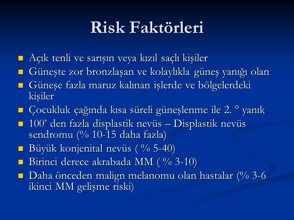 Risk faktörleri olan hastalar hayat boyu takip edilmelidir