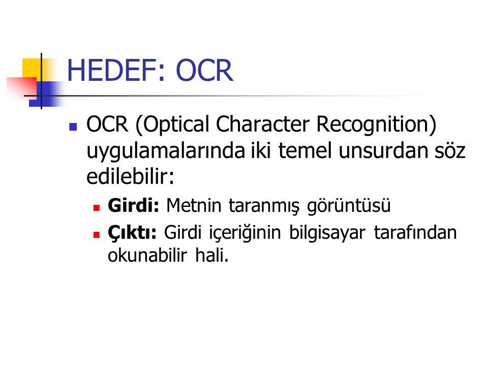 ADIMLAR OCR'ı gerçekleştirmek için üç aşamalı bir yol izlenebilir.