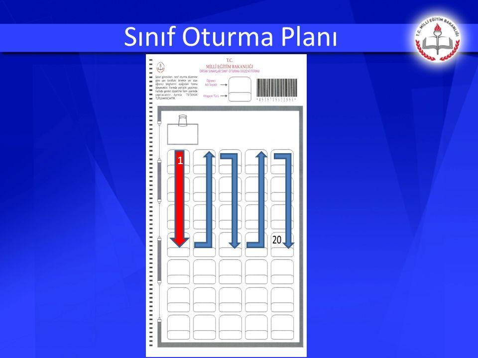  Her derse ait sınav süresinin tamamlanmasına 5 (beş) dakika kala öğrenciler sınıftan çıkarılmayacaktır.