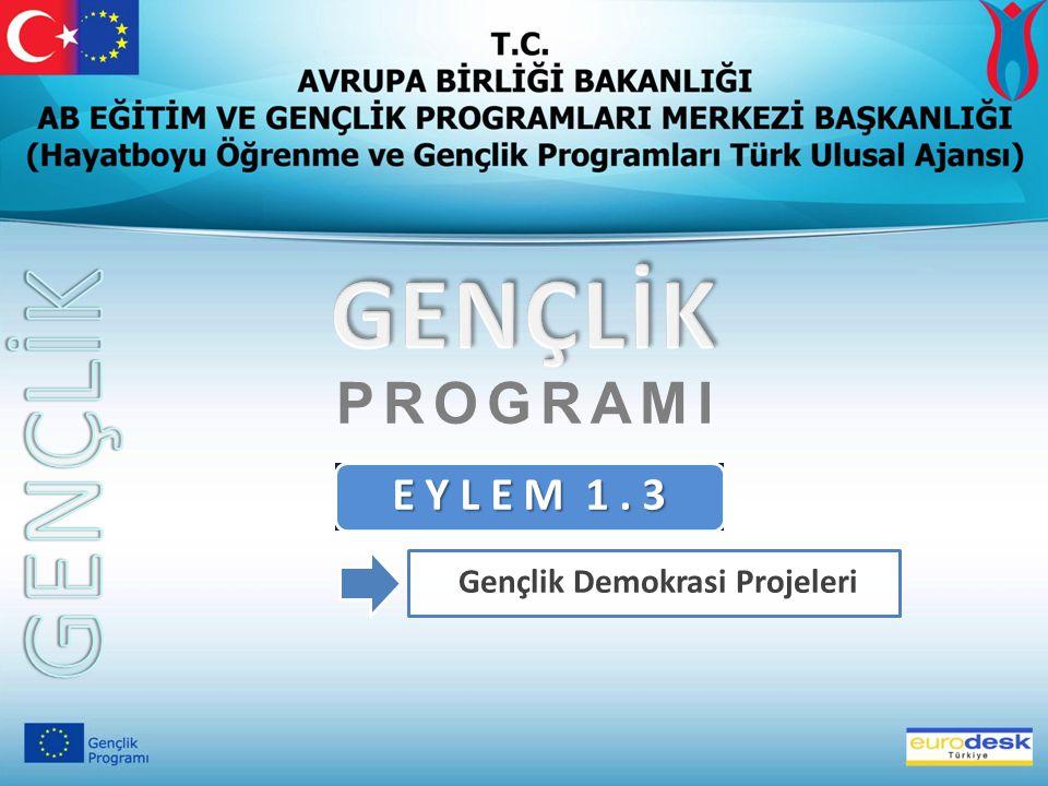 E Y L E M 1. 3 Gençlik Demokrasi Projeleri PROGRAMI