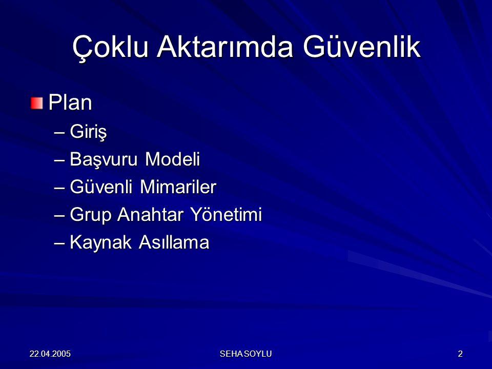 22.04.2005 SEHA SOYLU 3 Giriş - I Çoklu Aktarım.