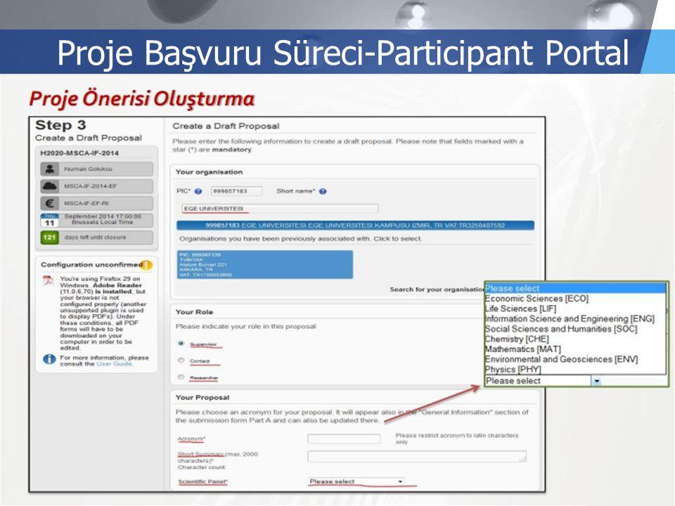 LOGO Proje Başvuru Süreci-Participant Portal