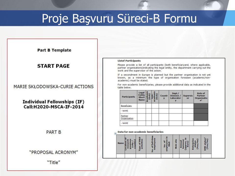 LOGO Proje Başvuru Süreci-B Formu
