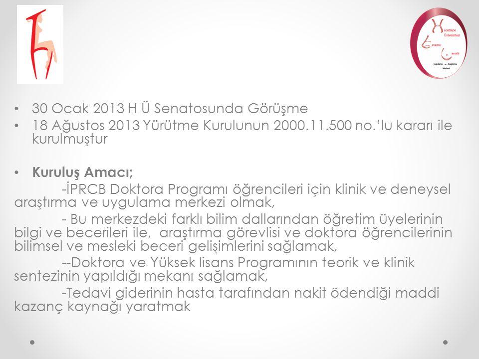30 Ocak 2013 H Ü Senatosunda Görüşme 18 Ağustos 2013 Yürütme Kurulunun 2000.11.500 no.'lu kararı ile kurulmuştur Kuruluş Amacı; -İPRCB Doktora Program
