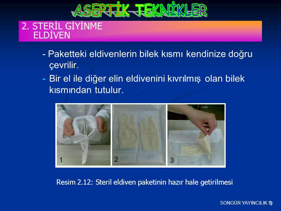 SONGÜR YAYINCILIK  - Paketteki eldivenlerin bilek kısmı kendinize doğru çevrilir. -Bir el ile diğer elin eldivenini kıvrılmış olan bilek kısmından tu