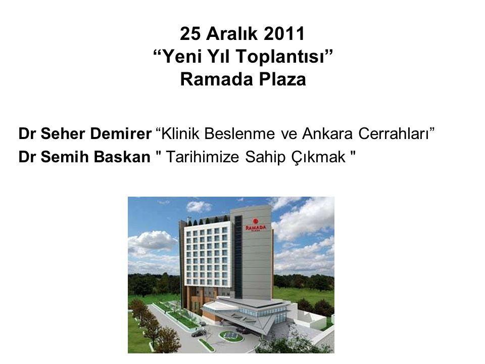"""Dr Seher Demirer """"Klinik Beslenme ve Ankara Cerrahları"""" Dr Semih Baskan"""