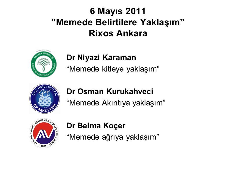 """6 Mayıs 2011 """"Memede Belirtilere Yaklaşım"""" Rixos Ankara Dr Niyazi Karaman """"Memede kitleye yaklaşım"""" Dr Osman Kurukahveci """"Memede Akıntıya yaklaşım"""" Dr"""